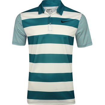 Nike Breathe Bold Stipe Shirt Polo Short Sleeve Apparel