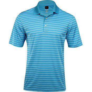 Greg Norman ProTek ML75 Microlux Stripe Shirt Polo Short Sleeve Apparel