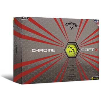 Callaway Chrome Soft X Yellow Golf Ball Balls