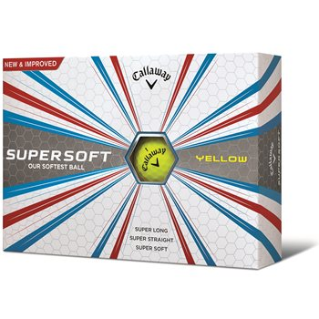 Callaway Supersoft 17 Yellow Golf Ball Balls