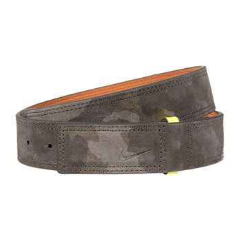 Nike Sleek Modern Covered Plaque Camo Suede Accessories Belts Apparel