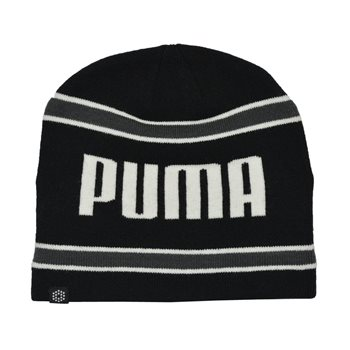 Puma Stripe Pwr Warm Beanie Headwear Knit Hat Apparel