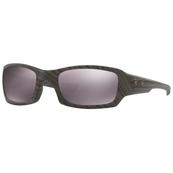Oakley Fives Squared PRIZM Daily Polarized Woodgrain  Sunglasses Accessories