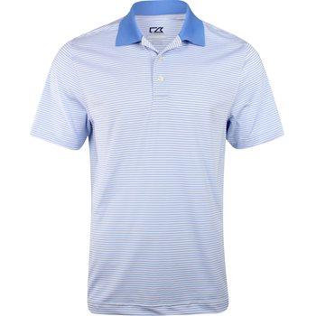 Cutter & Buck DryTec Cardinal Stripe Shirt Polo Short Sleeve Apparel