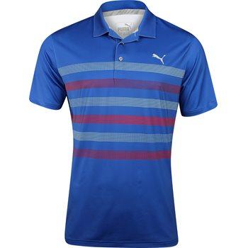 Puma Center Stripes Shirt Polo Short Sleeve Apparel
