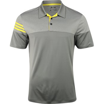 Adidas 3-Stripes Heather Block Shirt Polo Short Sleeve Apparel