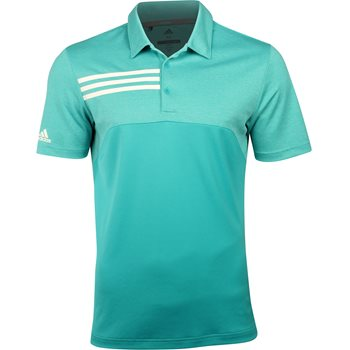 Adidas 3-Stripes Heather Block Shirt Polo Short Sleeve Apparel