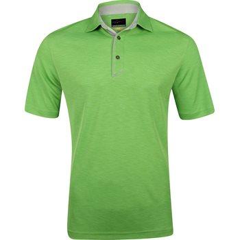 Greg Norman Textured Heathered Shirt Polo Short Sleeve Apparel