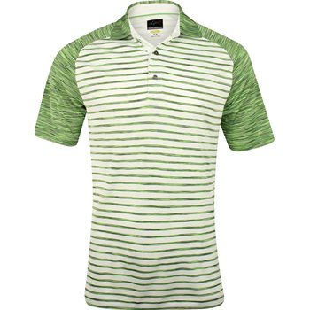 Greg Norman WeatherKnit Stripe Space Dye Shirt Polo Short Sleeve Apparel