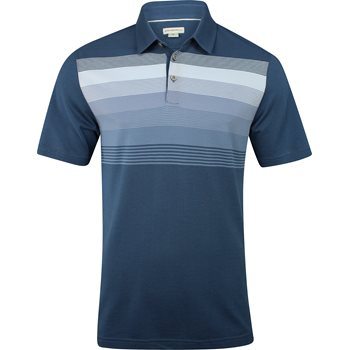 Ashworth Gradiation Stripe Pique Shirt Polo Short Sleeve Apparel