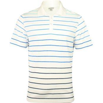 Ashworth Spectrum Stripe Yarn Dye Shirt Polo Short Sleeve Apparel