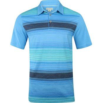 Ashworth Yarn Dye Ombre Shirt Polo Short Sleeve Apparel