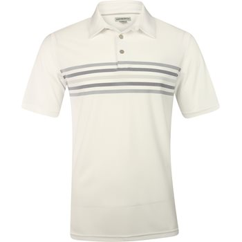 Ashworth Stretch Pique 2-Tone Chest Stripe Shirt Polo Short Sleeve Apparel