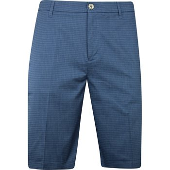 Ashworth Mini Check Shorts Flat Front Apparel