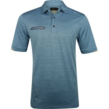 Greg Norman Soundwave Frequency Heathered Tonal Space Dye Shirt Polo Short Sleeve Apparel