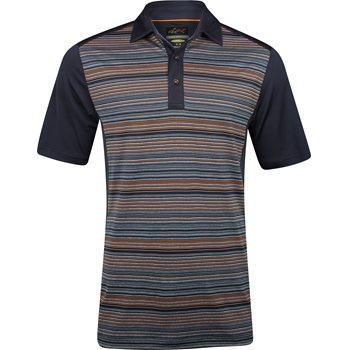 Greg Norman Heathered Stripe Golf Shirt Polo Short Sleeve Apparel