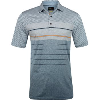 Greg Norman Soundwave ML75 Stretch Engineered Stripe Shirt Polo Short Sleeve Apparel
