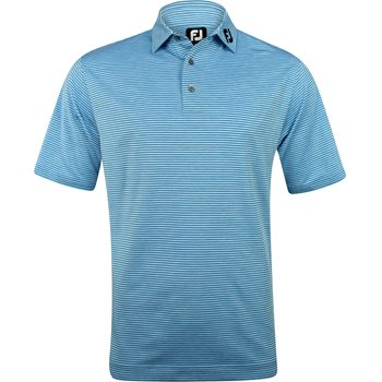 FootJoy ProDry Performance Heather Pinstripe Tour Logo Shirt Polo Short Sleeve Apparel