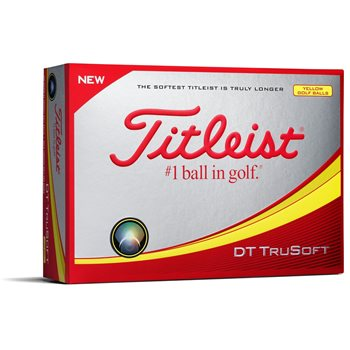 Titleist DT TruSoft Yellow Golf Ball Balls