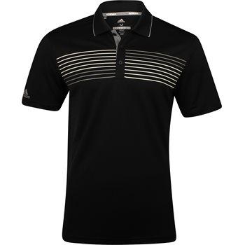 Adidas Chest Stripe Print Shirt Polo Short Sleeve Apparel