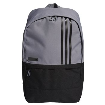 6d863a3d68 Adidas 3-Stripes Small Backpack Grey   Black Luggage Golf Accessory ...