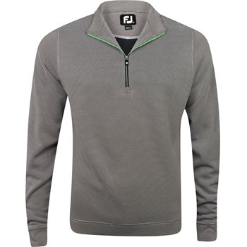 FootJoy Breckenridge Stripe Double Layer Knit Half-Zip Outerwear Apparel