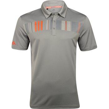 Adidas Chest Print Shirt Polo Short Sleeve Apparel