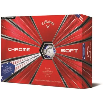 Callaway Chrome Soft Truvis Stars and Stripes Golf Ball Balls