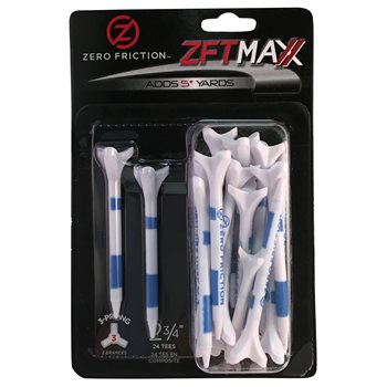 Zero Friction 3-Prong Maxx 2 3/4 Golf Tees Accessories