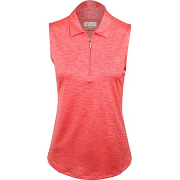 Greg Norman Shimmer Heathered Sleeveless Zip Shirt Apparel