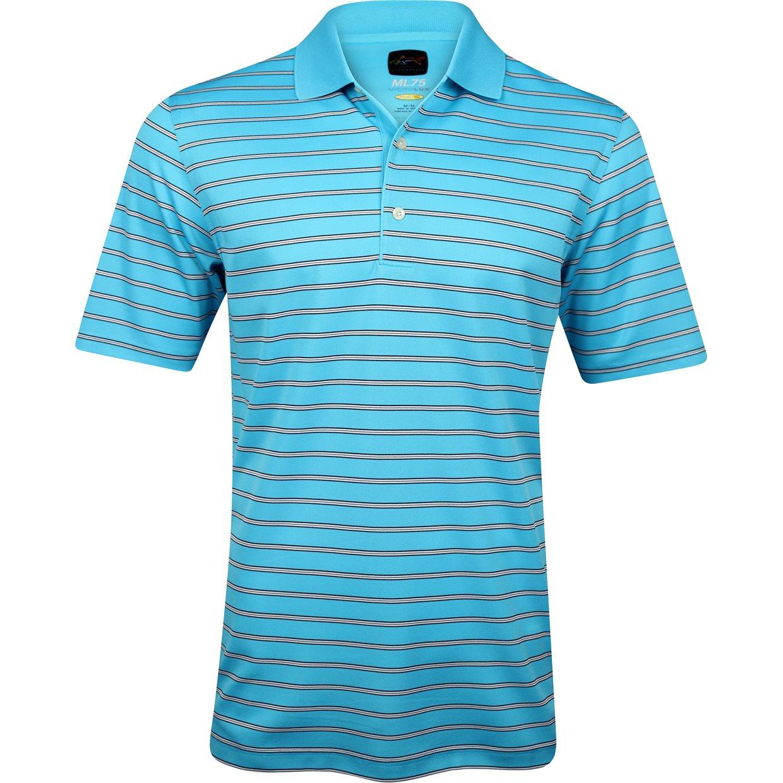 Greg norman ml75 micro lux stripe shirt apparel m cerulean for Greg norman ml75 shirts