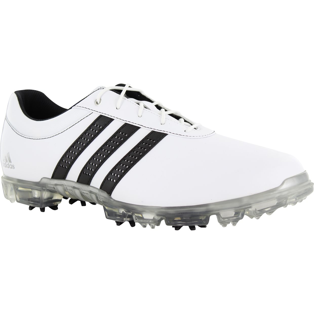 adidas Golf ADIPURE FLEX - Golf shoes - white/core black/silver metallic j8pYzEfHa