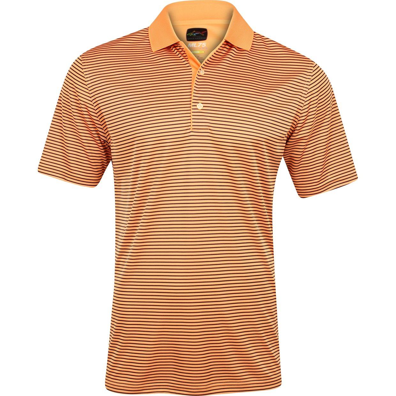 Greg norman ml75 micro lux fine stripe shirt apparel l for Greg norman ml75 shirts
