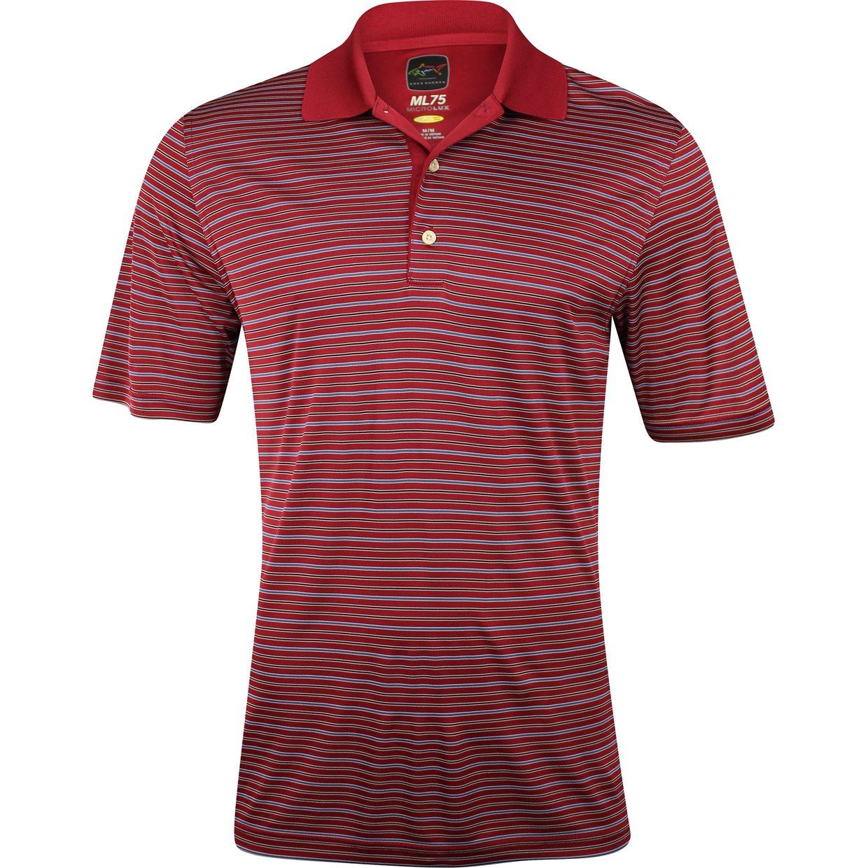 Greg norman protek ml75 microlux stripe shirt apparel m for Greg norman ml75 shirts