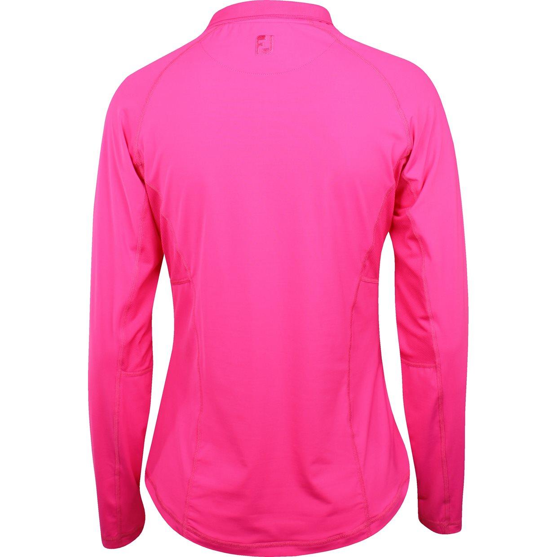 Women footjoy lisle l s zip sun protection shirt apparel for Sun protection golf shirts