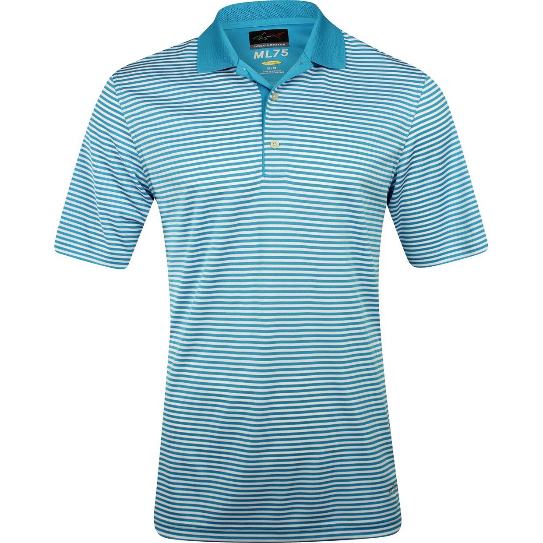 Greg norman ml75 bar stripe 433 shirt apparel at for Greg norman ml75 shirts