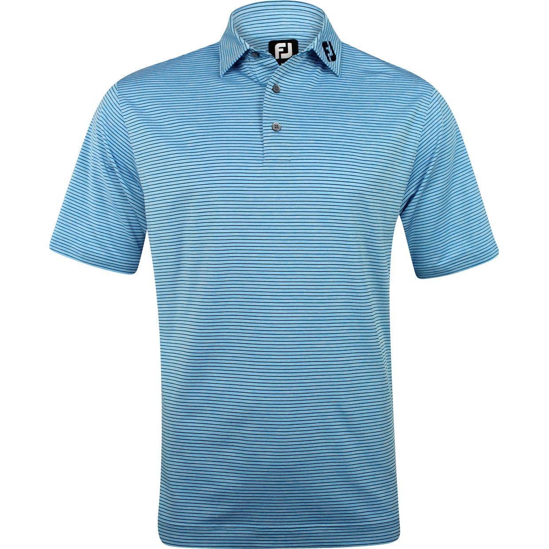 Footjoy prodry performance heather pinstripe tour logo for Footjoy shirts with titleist logo