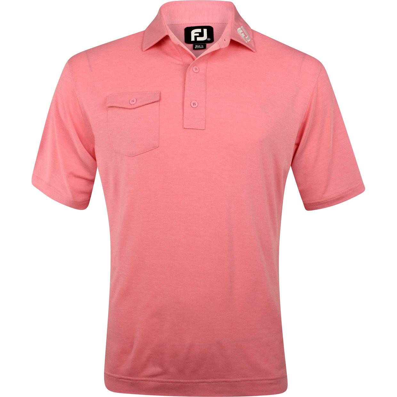 Footjoy prodry performance chest pocket tour logo shirt for Footjoy shirts with titleist logo