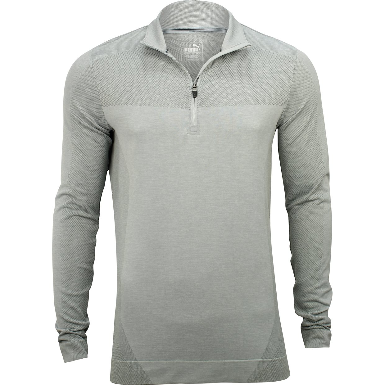 Puma EvoKnit Seamless ¼ Zip Outerwear Apparel at GlobalGolf.com 84000c417f