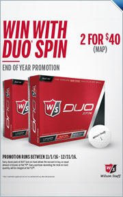 Buy 2 Dozen Wilson Duo Spin Golf Balls for $40